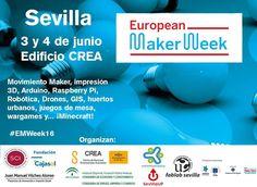 Cartel de la European Maker Week Sevilla