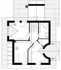 O casa de vis cu 4 dormitoare mansarda si garaj - proiect detaliat cu fotografii Floor Plans, Diagram, Architecture, House, Arquitetura, Home, Architecture Design, Homes, Floor Plan Drawing