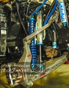 This was a pretty interesting project that rolled into our shop a couple weeks ago and thought we would share it. Cantilever Suspension, Off Road Suspension, Chevy Trucks, Pickup Trucks, Toyota Tundra 4x4, Car Alignment, Bus Engine, Trophy Truck, Automotive Engineering