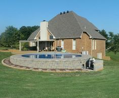 Above ground pools can look just as elegant and add interest to your landscaping as well. The following ideas provide quite a few unique above ground pool. #OutdoorPool Above Ground Pool Landscaping, Above Ground Pool Decks, Backyard Pool Landscaping, Backyard Pool Designs, Above Ground Swimming Pools, Swimming Pools Backyard, In Ground Pools, Landscaping Ideas, Fun Backyard