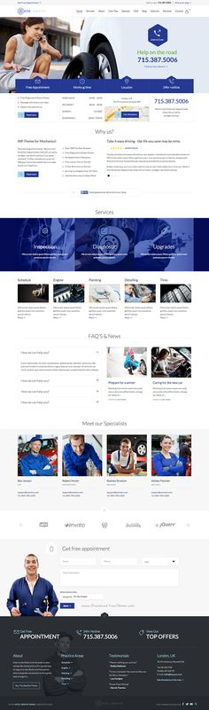 Perfect #Auto #Car Repair Mechanic Shop #Responsive Theme #webdesign