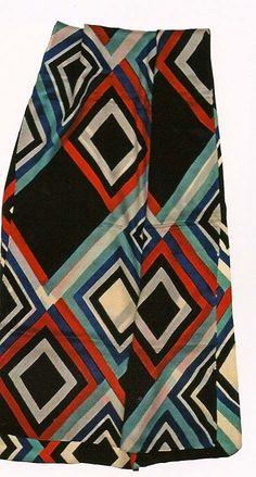 Sonia Delaunay.  Block-printed silk scarf, 1926