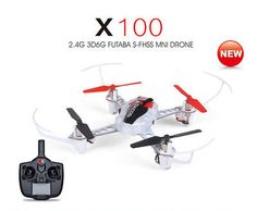 ﹩43.99. XK X100 RC Drone Quadcopter Helicopter 2.4G 3D 6G Axis Gyro Futaba S-FHSS RTF    Fuel Type - Electric, Required Assembly - Ready to Go/RTR/RTF (All included), Type - Quadcopter, Color - White, Vintage (Y/N) - Yes, Maximum Control Range - 328ft. (100m), Material - Plastic, Capacity - 3.7V 250mAh, ISBN - Does not apply
