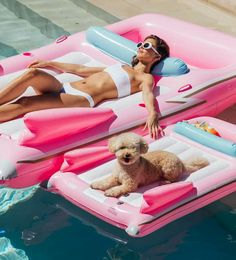 Pool Float Ideas FUNBOY Pink Cadillac + Dog Float Maternity Clothes Trends For most women, the most