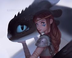 Zephyr Haddock and Blue eyes ( Night Light ) - Httyd / How To Train Your Dragon 3 How To Train Dragon, How To Train Your, Arte Disney, Disney Art, Punk Disney, Disney Movies, Disney Characters, Httyd Dragons, Dragon Pictures