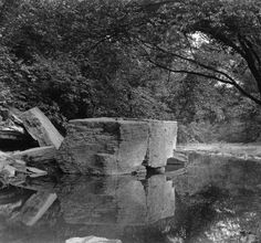 Cherokee Park, Big Rock, Louisville, Kentucky, 1921. :: Caufield & Shook Collection