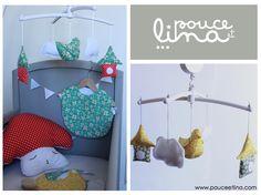 cadeau bébé enfant décoration chambre enfant pouce et lina