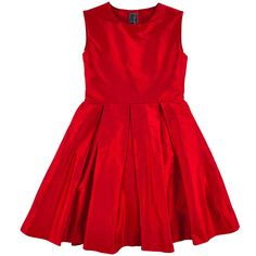 Red silk party dress by Oscar de la Renta kids