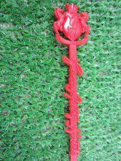 Vintage GENE AUTRY Hotels Red Plastic Swizzle Stick by kookykitsch, $8.00