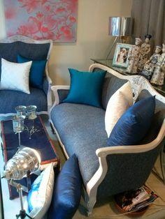 azules y grises en vintage