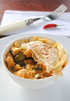My Moroccan-Spiced Chicken Pie with Phyllo Pastry - one of my all-time favourite recipes. ##wwflavoursociety #chickenpie