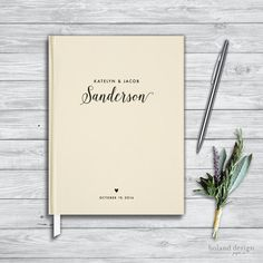 Wedding Guest Book. Bridal Shower guest by BolandDesignPaperCo