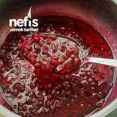 Köstliche Desserts, Delicious Desserts, Dessert Recipes, Yummy Food, Pomegranate Jam, Hawiian Food, Turkish Recipes, My Recipes, Food And Drink