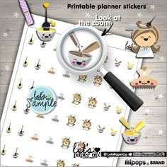 Hair Color Stickers, Printable Planner Stickers - Planner stamps for your Erin…