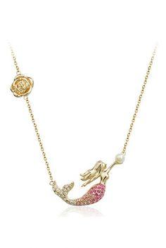Cute mermaid chain necklace.