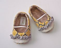 YELLOW Elephant Girl Shoe/Onesie Combo by HarperDaisy on Etsy, $36.95