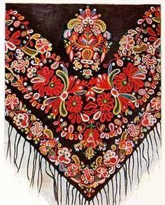Embroidered Spanish shawl