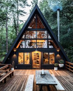 Inverness A-Frame Cabin by Blythe Design Co - . Inverness A-Frame Cabin by Blythe Design Co - 30 best playroom ideas for small and large rooms - # for. Industrial Interior Design, Industrial Interiors, Cabin Design, Tiny House Design, Wood House Design, Cottage Design, Inverness, Cabin In The Woods, Cabins In The Mountains
