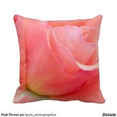 Pink Flower pic Throw Pillow #pinkflower #throwpillow