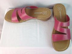 Naturalizer Pink Leather Slide On Sandals 042NA61 Size 9S #Naturalizer #Slides…