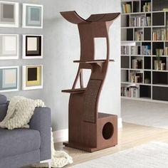 Interior Designs for Pet Lovers Cat Condo Modern Modern Cat Furniture, Pet Furniture, Furniture Design, Furniture Ideas, Cat Tree Condo, Cat Condo, Cleopatra, Cool Cat Trees, Litter Box Enclosure