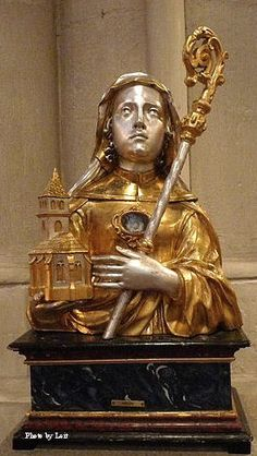 A reliquary bust of St. Adelaide in the Church of St. Peter in Bonn-Vilich.