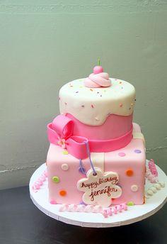 Birthday Cake By Dee Lanya Girls Square Pretty