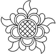 Quilt Stencil 9'' Baroque Flower