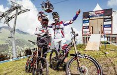 Claudio Caluori y Steve Peat nos enseñan el recorrido de Lenzerheide 2016 Mountain Bike Action, Mountain Biking, Mtb, Bicycle, Freedom, Cute, Liberty, Bike, Political Freedom