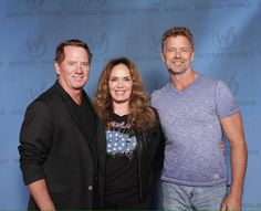 John Schneider, Tom Wopat and Catherine Bach.