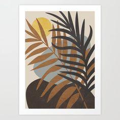 Abstract Tropical Art IV Mini Art Print by Simple Canvas Paintings, Canvas Art, Canvas Prints, Art Prints, Tropical Art, City Art, Art Projects, Abstract Art, Artsy