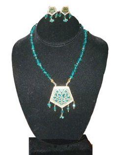 Indian Jewelry Set- Gold Plated Beaded Thewa Necklace Set Ethnic Design Set 3pc Mogul Interior,http://www.amazon.com/dp/B008418G44/ref=cm_sw_r_pi_dp_sstmsb051JEMXT2D