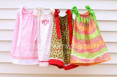 Pillowcase dresses.  Such Sweet Southern Charm!