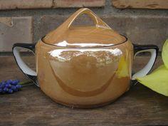 Noritake Peach Lusterware Sugar Bowl with Lid / by BougieRue