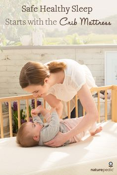 Give your baby Safe Healthy Sleep with a certified organic crib mattress free from harmful chemicals.