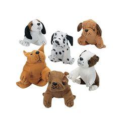 Plush+Realistic+Dogs+-+OrientalTrading.com $20 for a dozen