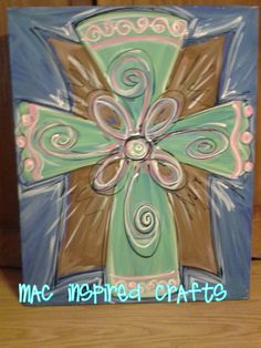 Hand+painted+Cross+Artwork+by+MACInspiredCrafts+on+Etsy,+$45.00