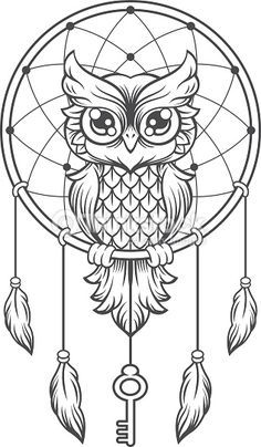 dreamcatcher owl tattoo - Google keresés                                                                                                                                                     More