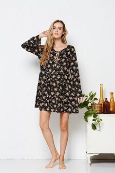 Tree of Life | Wallflower Dress | Long sleeve floral minidress