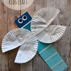 Dragonfly Craft Template -Easy Paper Craft for Kids! Easter Arts And Crafts, Summer Crafts For Kids, Paper Crafts For Kids, Craft Kids, Paper Crafting, Insect Crafts, Fox Crafts, Bible School Crafts, Preschool Crafts