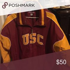 Varsity Jacket Majestic Varsity Jacket with USC theme. Majestic Jackets & Coats Blazers
