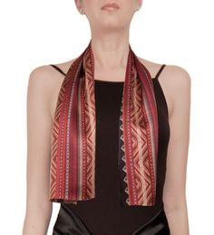 Ruphay II Silk Crepe Satin Long Scarf by VIVIAN Contemporary Andean Design, £ 35 http://shop.vivianhidalgo.com/?product=puquypacha