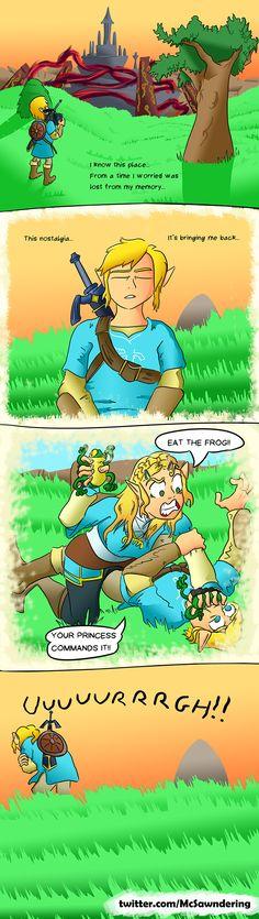 [BOTW Comic] Link remembers the past Visit blazezelda.tumblr.com