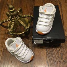 Jordan infant retro 11 Citrus low Brand new worn twice comes w original box. Infant Jordan retro 11 citrus low 100% authentic!! Collectors sold out!! Price is firm selling on ♏️ercari for $55 Jordan Other