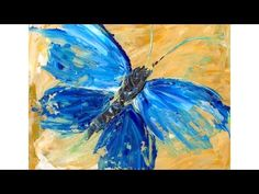 Beginner Acrylic Tutorial Abstract Butterfly Painting - YouTube