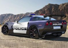 Speedsters will have to go pretty damn fast if they want to outrun this USA Police interceptor — a 505 hp Chevrolet Corvette Z06. Click for more... #speed #spon