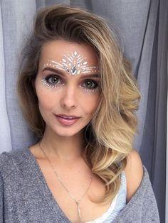 make carnaval com aplique de strass cristais festival 10