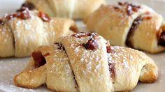 Chocolaty Hazelnut and Bacon Crescents Recipe