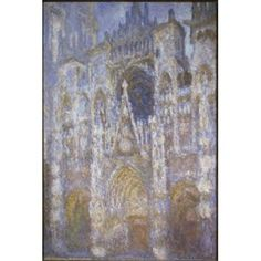 Rouen Cathedral (The Portal Morning Sun) 1894 Claude Monet (1840-1926French) Musee dOrsay Paris Canvas Art - Claude Monet (18 x 24)