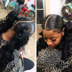 Two Ponytails Hair Nails And Style Done By Tynisha